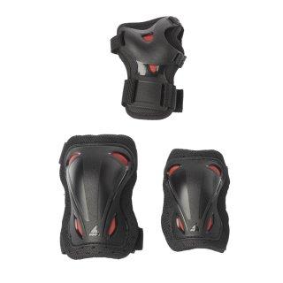 Rollerblade Skate Gear JR 3 Pack black / red