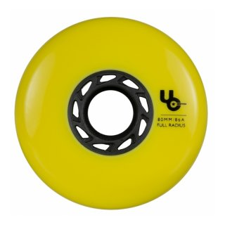 Undercover Wheels 4er Pack 80mm 86A Full Radius yellow