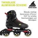 Rollerblade Sirio 100 3WD schwarz rot gelb