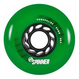 Powerslide Spinner Wheels 80mm 88A 4 pack green