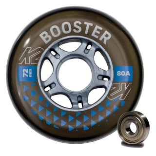 K2 Wheels Booster 8 Wheel Pack 72mm 80A + ILQ 5 Bearing