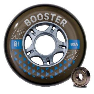 K2 Wheels Booster 8 Wheel Pack 80mm 82A + ILQ 7 Bearing