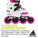 Rollerblade Apex Weiß Schwarz Pink